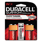 Duracell Quantum Alkaline Batteries with Duralock Power Preserve Technology, 9V, 2/Pk