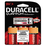 Duracell Quantum Alkaline Batteries with Duralock Power Preserve Technology, 9V, 3/Pk