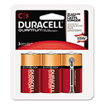 Duracell Quantum Alkaline Batteries w/ Duralock Power Preserve Technology, C, 1.5V, 3/Pk
