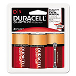 Duracell Quantum Alkaline Batteries w/ Duralock Power Preserve Technology, D, 1.5V, 3/Pk