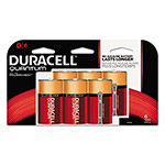 Duracell Quantum Alkaline Batteries w/Duralock Power Preserve Technology, D, 1.5V, 6/Pk