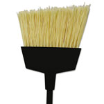 "O Cedar MaxiClean Angle Broom, Flagged PET Bristles, 56"" Handle, Black, 6/Carton"