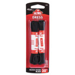 SC Johnson KIWI Dress Laces, Waxed, Black, 30 in., Standard, 48/Carton