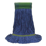 O Cedar Maxi-Clean Loop-End Mop Heads, Medium, 10 1/2 x 15 1/2, Blue, 12/Carton