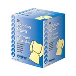 Dynarex Isolation Gown, Yellow with Ties Fullback, 50 per Case