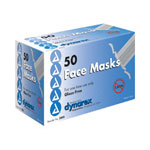 Dynarex Face Mask, Surgical Tie, Blue Latex Free, 50 per Box