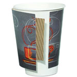 Dixie 12 Oz Hot Paper Cups, Coffee Design, Pack of 25