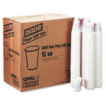 Dixie 12 Oz Cold Paper Cups, Sage Design, Pack of 2400