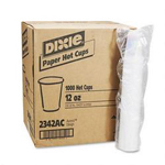 Dixie 12 Oz Hot Paper Cups, Sage Design, Pack of 1000