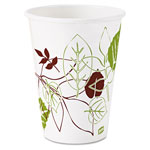 Dixie Hot Cups, Poly Lined, 12oz., 25/PK, Pathways/White