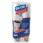 Dixie® Combo Box, Paper Hot Cups,10 oz, White Lid, 50 Cups & Lids