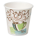 Dixie® 10 Oz Hot/Cold Paper Cups, Coffee Design, Pack of 500