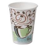 Dixie PerfecTouch Hot Cups, Paper, 8 oz., Coffee Dreams Design, 50/Pack