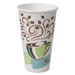 Dixie 16 Oz Hot Paper Cups, Coffee Design, Pack of 50