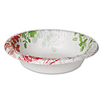Dixie Modern Romance Heavyweight Bowls, 12oz, White/Red/Green, 175/Carton