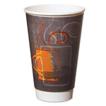 Dixie 8 Oz Hot/Cold Paper Cups, Coffee Design, Pack of 500