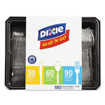 Dixie Combo Pack, Tray w/ Clear Plastic Utensils, 90 Forks, 30 Knives, 60 Spoons