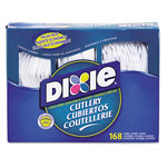 Dixie® CM168 White Plastic Cutlery Keeper Heavy Duty Combo Box