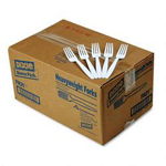 Dixie FH21 White Heavyweight Plastic Forks