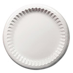 "Dixie Clay Coated Paper Plates, 8 5/8"", White, 125/Pack"