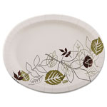 Dixie Ultra Pathways Heavyweight Oval Platters, 8 1/2 x 11, Green/Burgundy, 125 Pack
