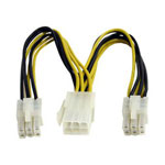 Startech PCI Express Power Splitter Cable - Power Splitter - 6 In