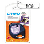 "Dymo Tape Cartridge, 1/2"" x 13 Feet, Clear Plastic Tape"