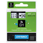 "Dymo D1 Tape Cartridge for Electronic Label Makers, Black on White, 3/8"" w x 23 ft."
