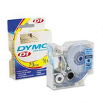 "Dymo D1 Tape Cartridge for Electronic Label Makers, Black on Blue, 3/4"" w x 23 ft."