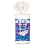 ITW Dymon White Board Cleaner Wipes, Cloth, 8 x 6, White, 120/Canister