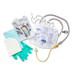 Medline Silicone-Elastomer-Coated Latex Closed System Foley Catheter Tray Foley, Cath, Sil-Elast, 16Fr, 10Ml, Bg