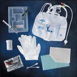 Medline 100% Silicone Closed System Foley Catheter Tray Foley, 100% Silicone, 18Fr, 10Ml, Lf