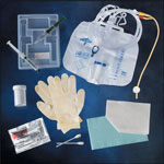 Medline Silicone-Elastomer Coated Latex Closed System Foley Catheter Tray Foley, Sili-Elast, 18Fr, 10Ml, w/Bag