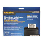 Aleratec Shredder Lubricant Sheet 12-Pack - Shredder Lubricant Sheets