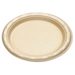 "Dispoz-O Enviroware Tableware, Plates, Round, 6"" dia, Wheat"