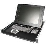 Startech 1U LCD KVM Monitor Keyboard Mouse Console For Cabinets
