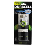 Duracell Sync And Charge Cable, Apple Lightning, 6ft