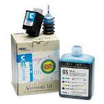 Encad Kodak 209489 Kit, Ink Jet Cart, GS, Novajet 500/PROe, 500ml Bottle Ink, cyan