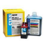 Encad Kodak 21266800 Ink Jet Cartridge Kit, GX, Novajet 600/700/800, 500ml Bottle Cyan Ink