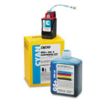 Encad Kodak 21296200 Ink Jet Replacement Cartridge, GS Plus, Novajet600/700/800, 20ml, Cyan