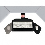 "Ergonomic Concepts Keyboard Tray, Swivels 360, 21"" Track, 22""x14""x1/4"", Black"