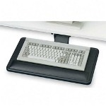 "Ergonomic Concepts articulating keyboard platform with wrist rest, 22""x12""x3/4"", bk"