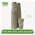 Eco-Products 16 Oz Hot Paper Cups, World Design, Pack of 50
