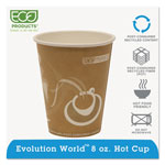 Eco-Products 8 Oz Hot Paper Cups, Orange, Pack of 1000
