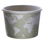 Eco-Products World Art PLA-Lined Soup Containers, 16oz, Gray/White