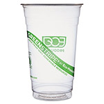 Eco-Products 20 Oz Cold Plastic Cups, Clear, Pack of 1000