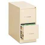 OIF Two-Drawer Economy Vertical File, 15w x 26-1/2d x 29h, Putty