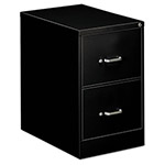 OIF Two-Drawer Economy Vertical File, 18-1/4w x 26-1/2d x 29h, Black