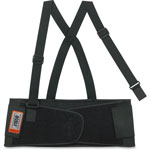 Ergodyne Back Support, Elastic, Detachable Suspenders, Medium, Black