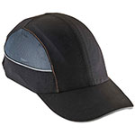 Ergodyne Skullerz 8960 Bump Cap w/LED Lighting Technology, Long Brim, Black